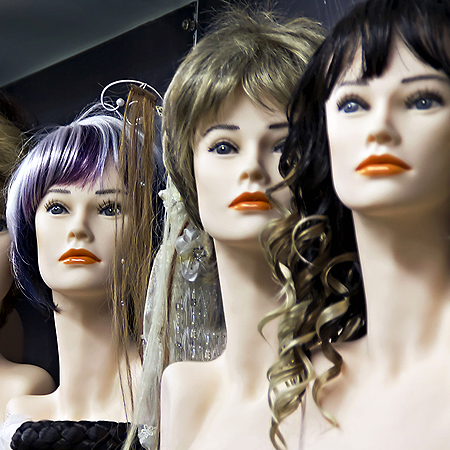 mannequin heads with hair